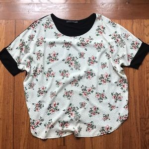 Floral-front shirt